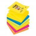 Super lipnūs lapeliai POST -IT SUPERSTICKY Z-NOTES, 76 x 76 mm, įvairios spalvos, 6 vnt./pak.