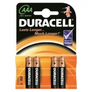 Baterijos DURACELL AAA, LR03, 4 vnt.