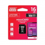 Atminties kortelė MICRO CARD cl 10 UHS I, 16GB + adapteris